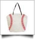 "The ""Take Me Out To The Ball Game"" Jute  Baseball Tote"