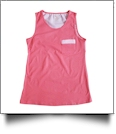 Gingham  Pocket Tank Top Embroidery Blanks - CORAL