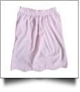 Seersucker Scalloped-Edge Ruffle Pencil Skirt - LIGHT PINK - IRREGULAR - CLOSEOUT