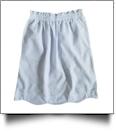 Seersucker Scalloped-Edge Ruffle Pencil Skirt - BLUE - IRREGULAR - CLOSEOUT