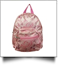 Ballet Dance Print Mini-Backpack Embroidery Blanks - PINK - CLOSEOUT