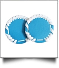 "The Coral Palms® 2.5"" EasyStitch Medallion Add-Ons One Pair - TURQUOISE/WHITE TRIM"