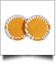 "The Coral Palms® 2.5"" EasyStitch Medallion Add-Ons One Pair - TANGERINE/WHITE TRIM"