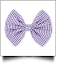 "5"" Gingham Hair Bow - PURPLE - CLOSEOUT"