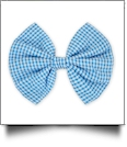 "5"" Gingham Hair Bow - TURQUOISE - CLOSEOUT"