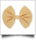 "5"" Gingham Hair Bow - ORANGE - CLOSEOUT"