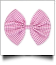 "5"" Gingham Hair Bow - HOT PINK - CLOSEOUT"