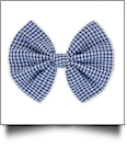 "5"" Gingham Hair Bow - NAVY - CLOSEOUT"