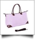 Luxurious Seersucker Weekender Bag - PINK - IRREGULAR