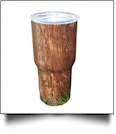 Woodgrain Print 30oz Double Wall Stainless Steel Super Tumbler - WALNUT