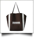 "The ""Touchdown"" Football Canvas Tote - IRREGULAR PRINTING"