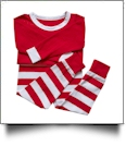 Children's Striped Christmas Pajamas - RED