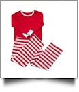 Adult Striped Christmas Pajamas - RED - CLOSEOUT