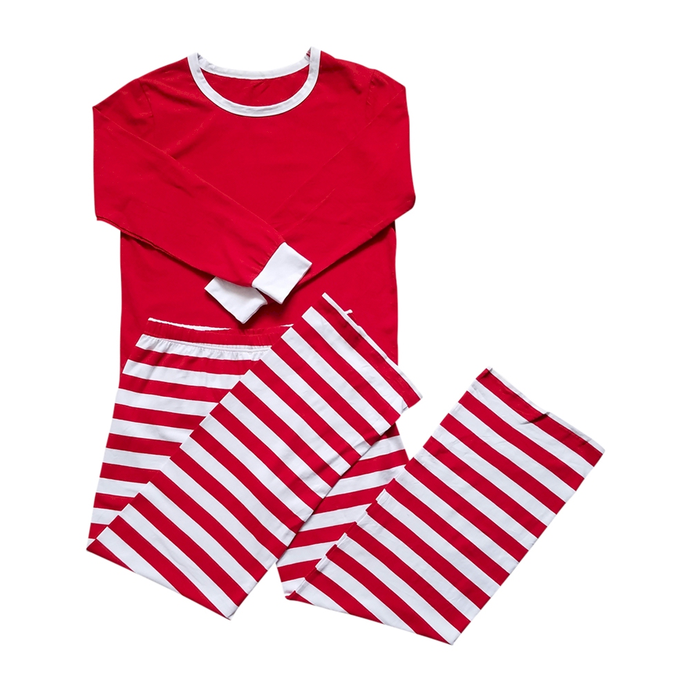 adult striped christmas pajamas red closeout