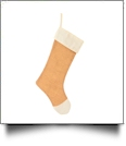 Blank Burlap Christmas Stocking - IVORY