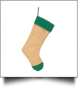 Blank Burlap Christmas Stocking - GREEN