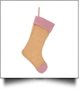 Blank Burlap Christmas Stocking - RED GINGHAM
