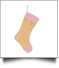 Blank Burlap Christmas Stocking - RED SEERSUCKER - CLOSEOUT