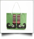Sequin Elf Shoes Jute Tote - PRE-ORDER