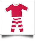 "Christmas Striped Pajamas for 18"" Dolls - RED/WHITE"
