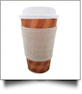 The Coral Palms® Jute Burlap Velcro Coffee Sleeve Wrap Coolie Embroidery Blanks