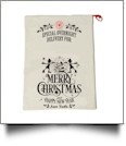 EasyStitch Christmas Gift Bag Blank With Invisible Zipper For Easy Embroidery - ELVES - CLOSEOUT
