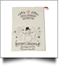 EasyStitch Christmas Gift Bag Blank With Invisible Zipper For Easy Embroidery - SNOWMAN - CLOSEOUT