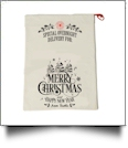 EasyStitch Christmas Gift Bag Blank With Invisible Zipper For Easy Embroidery - CHRISTMAS TREES