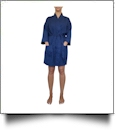 "Cotton Waffle 36"" Knee-Length Robe Embroidery Blanks - NAVY"