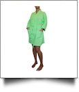 "Cotton Waffle 36"" Knee-Length Robe Embroidery Blanks - LIME"