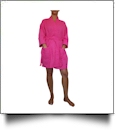 "Cotton Waffle 36"" Knee-Length Robe Embroidery Blanks - FUCHSIA"
