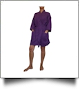 "Cotton Waffle 36"" Knee-Length Robe Embroidery Blanks - PLUM"