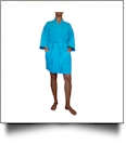 "Cotton Waffle 36"" Knee-Length Robe Embroidery Blanks - TROPICAL BLUE"