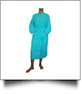 "Cotton Waffle Full-Length 48"" Robe Embroidery Blanks - CARIBBEAN GREEN"
