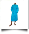 "Cotton Waffle Full-Length 48"" Robe Embroidery Blanks - TROPICAL BLUE"
