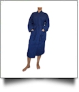 "Cotton Waffle Full-Length 48"" Robe Embroidery Blanks - NAVY"