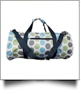 Jumbo Dots Print Duffel Bag Embroidery Blanks - WHITE/MULTI - CLOSEOUT