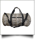 Leopard Print Duffel Bag Embroidery Blanks - BLACK TRIM - CLOSEOUT