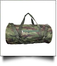 Classic Camo Print Duffel Bag Embroidery Blanks - GREEN TRIM - CLOSEOUT