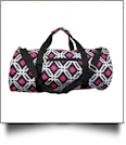 Graphic Print Duffel Bag Embroidery Blanks - BLACK TRIM - CLOSEOUT
