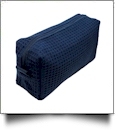 Small Cotton Waffle Cosmetic Bag Embroidery Blanks - NAVY