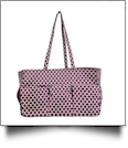 Quatrefoil Print Oversized Craft & Garden Multi-Purpose Carry-All Tote - PURPLE - CLOSEOUT