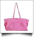 Quatrefoil Print Oversized Craft & Garden Multi-Purpose Carry-All Tote - HOT PINK - CLOSEOUT
