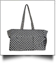 Quatrefoil Print Oversized Craft & Garden Multi-Purpose Carry-All Tote - BLACK - CLOSEOUT