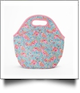 The Floridian Series Neoprene Lunch Tote - FUN LOVING FLAMINGOS