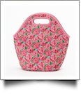 The Floridian Series Neoprene Lunch Tote - RAVISHING ROSES