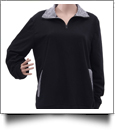 Preppy Gingham Quarter Zip - BLACK - CLOSEOUT