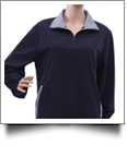 Preppy Gingham Quarter Zip - NAVY - CLOSEOUT