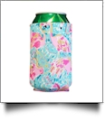 The Floridian Series 12oz Neoprene Can Koozie - FUN LOVING FLAMINGOS