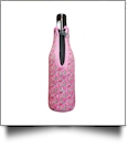 The Floridian Series 12oz Long Neck Zipper Neoprene Bottle Koozie - RAVISHING ROSES